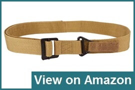 SIZET Heavy Duty Rigger's Belt with Metal Buckle
