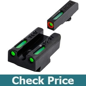 TRUGLO TFX Pro Tritium and Fiber Optic Xtreme Hangun Sights for Walther Pistols