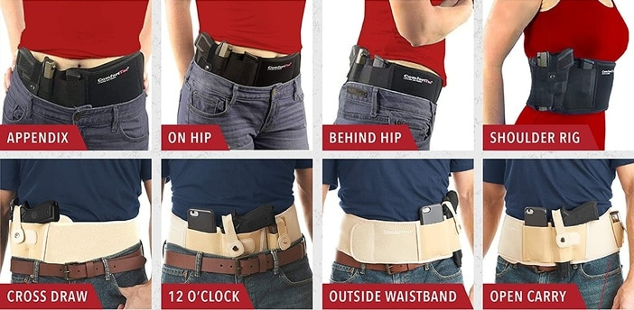 Comforttac Belly Band Wearing Positions